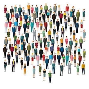 Grand groupe de personnes illustration design plat