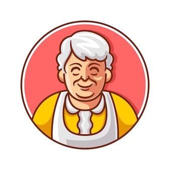 Grand-mère dessin animé mignon