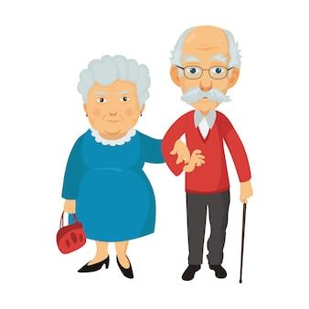 Grand-mère et grand-père ensemble