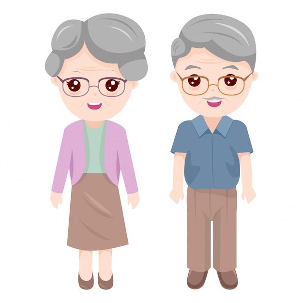 Grand-mère et grand-père