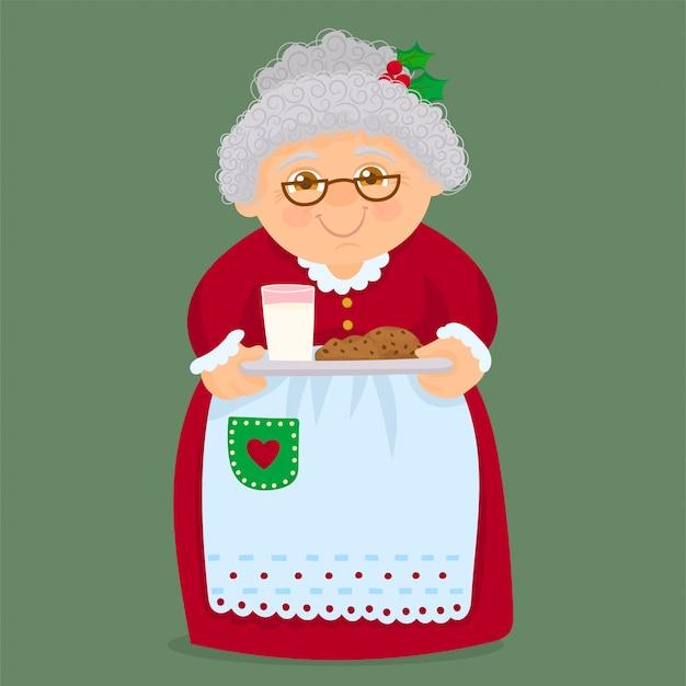 Grand-mère tenant des biscuits maison