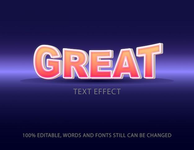 Grand modèle de vecteur d'effet de texte coloré