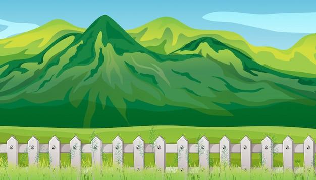 Grand montagnard en arrière-plan de la scène nature