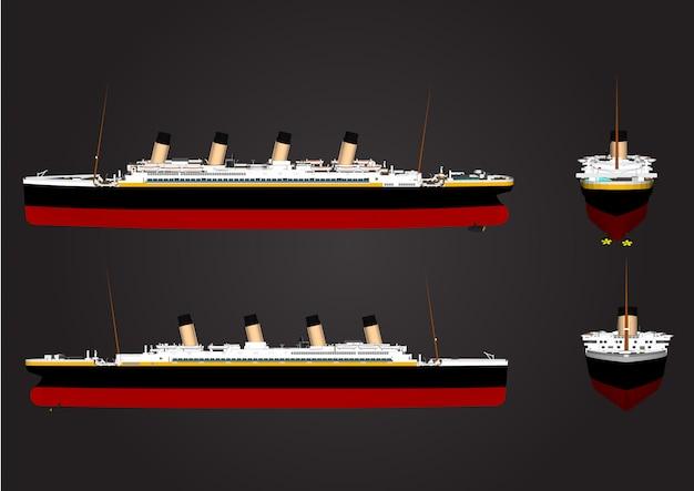 Grand navire vecteur pour voyage