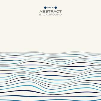 Grand niveau de couleur du motif ondulé de la ligne de rayure bleue