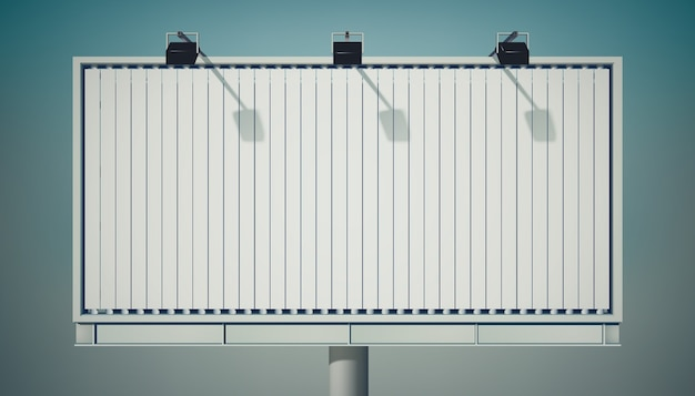 Grand panneau publicitaire horizontal