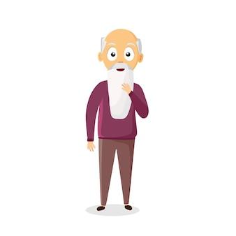 Grand-père de dessin animé de vecteur. illustration pour enfants