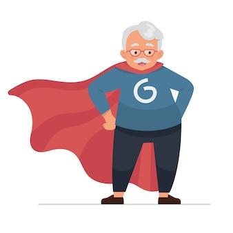 Grand-père ou vieil homme en héros