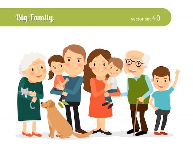 Grand portrait de famille