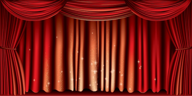 Grand rideau rouge