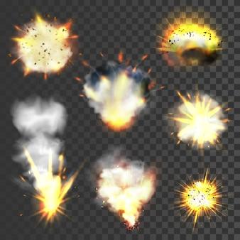 Grand set d'explosions