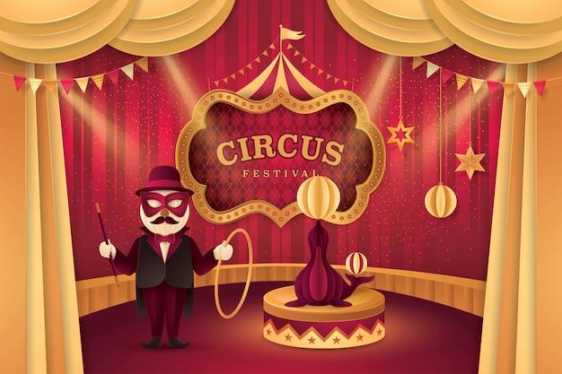 Grand spectacle de carnaval de cirque