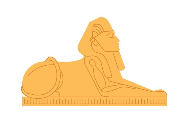 Grand sphinx de gizeh, divinité ou créature mythologique à tête humaine et corps de lion