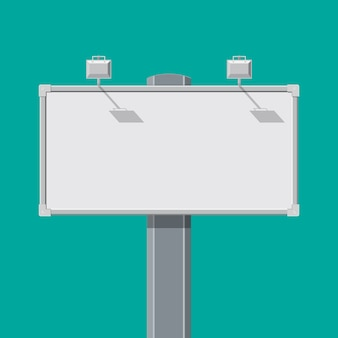 Grand tableau vide ou panneau d'affichage avec lampe