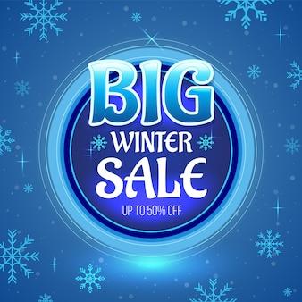 Grande bannière de vente d'hiver
