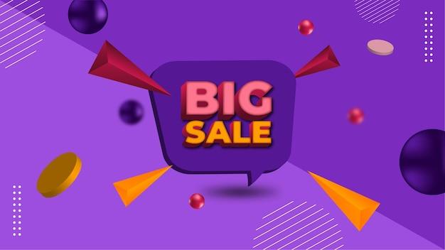 Grande bannière de vente et de promotion