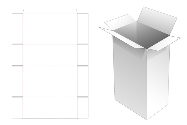 Grande boîte aux lettres de livraison avec poignées modèle découpé