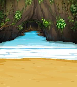 Une grande cave