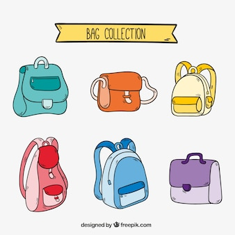 Grande collection de différents types de sacs à dos