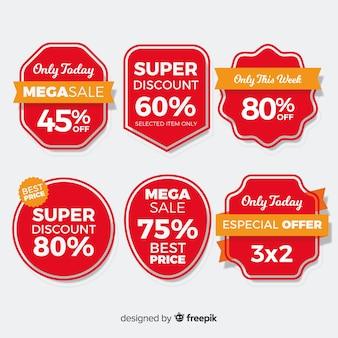 Grande collection d'étiquettes de vente de coupons