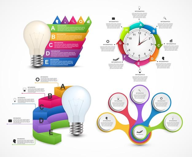Grande collection d'infographies colorées.