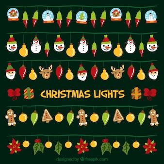 Grande collection de lumières de noël décoratifs
