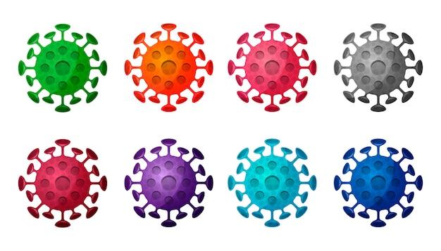 Grande collection de molécules de coronavirus isolées