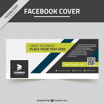 Grande couverture de facebook avec la conception géométrique