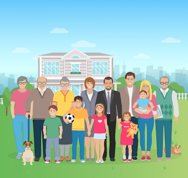 Grande famille illustration