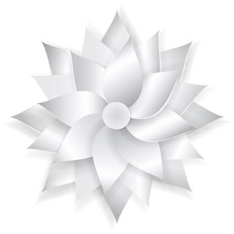 Grande fleur de papier de beau volume avec l'ombre douce