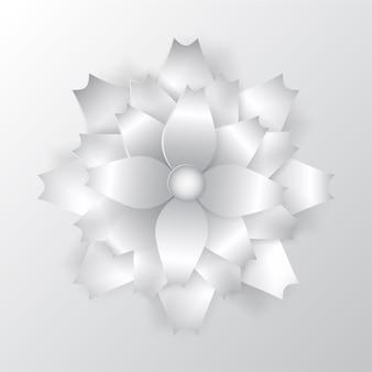 Grande fleur de papier beau volume avec une ombre douce