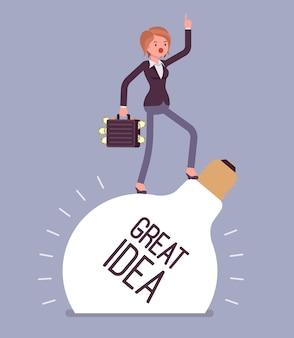 Grande idée de femme d'affaires
