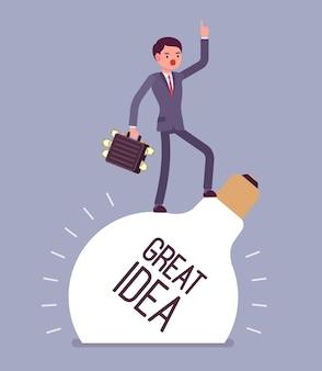 Grande idée d'homme d'affaires