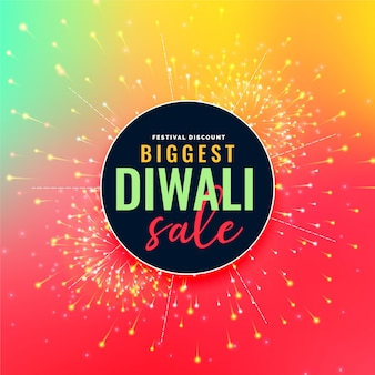 Grande illustration colorée de vente de festival de diwali