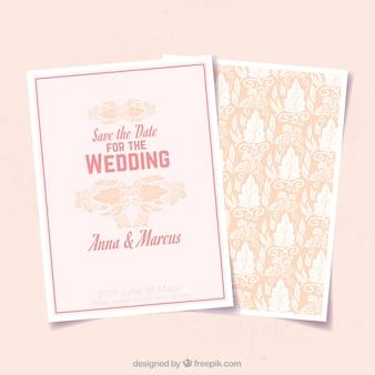 Grande invitation de mariage avec décoration ornementale