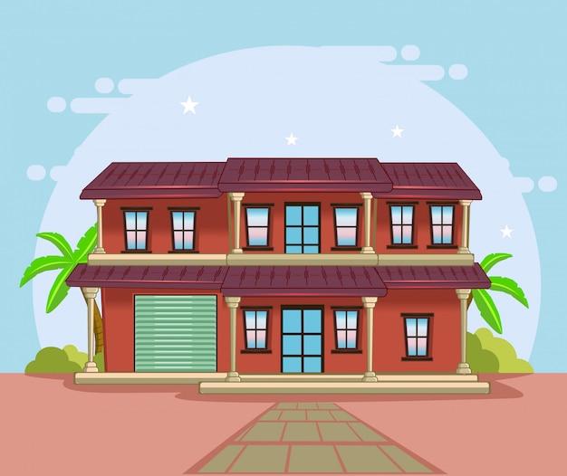 Grande maison classique avec vue