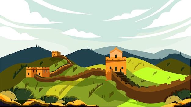Grande muraille de chine - célèbre monument