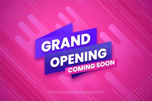 Grande ouverture bientôt fond de promo