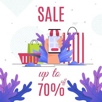 Grande proposition de vente de la boutique en ligne. bannière publicitaire