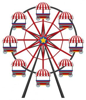 Grande roue sur fond blanc