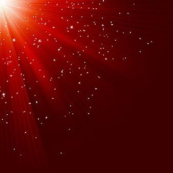 Grande texture de noël avec des étoiles et des rayons brillants. fichier inclus