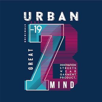 Grande typographie d'esprit urbain