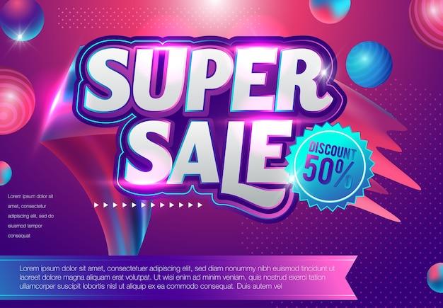 Grande vente discount - illustration de concept de mise en page