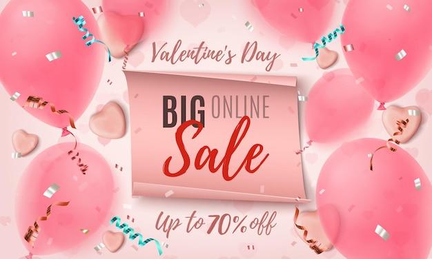 Grande vente en ligne de la saint-valentin.