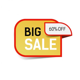 Grande vente soixante pour cent de lettrage. élément de design de vente.