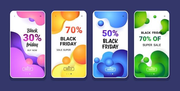 Grande vente vendredi noir collection de couleurs liquides offre spéciale marketing promotionnel achats de vacances