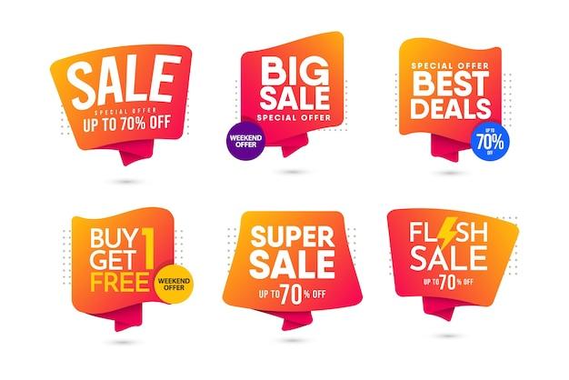 Grande vente, vente flash, modèle de conception moderne de super vente.