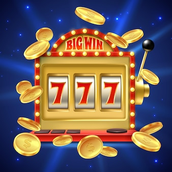 Grande victoire dans le pari de casino avec des nombres et une illustration de bobine usinée