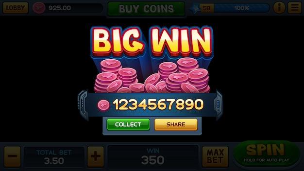 Grande victoire pour le jeu de machine à sous