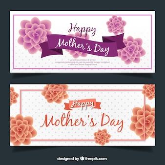 Grandes bannières florales pour la fête des mères